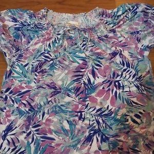 "NWOT ""Rebecca Malone"" colorful blouse"
